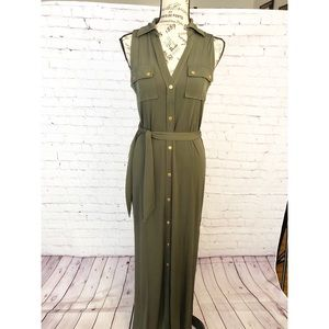 Michael Kors Olive Green Maxi Dress